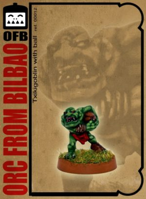 Orc From Bilbao Scared Txiki Goblin Snotling With Ball