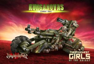 Raging Heroes The Kurganova Shock Troops Combat Trike