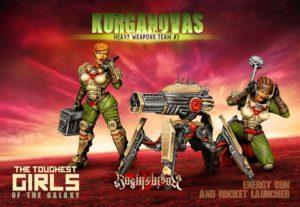Raging Heroes The Kurganova Shock Troops Heavy Weapons Team #03