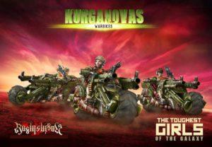 Raging Heroes The Kurganova Shock Troops Warbikes Squad