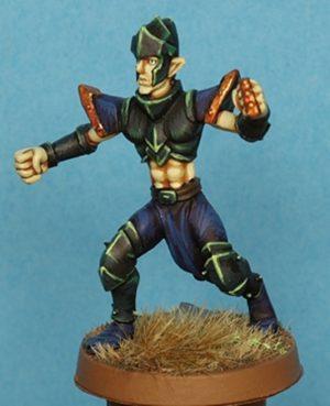 Gaspez Arts Dark Elves Linesman No 1 With Helmet
