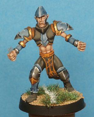 Gaspez Arts Dark Elves Linesman No 2 With Helmet