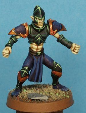 Gaspez Arts Dark Elves Linesman No 3 With Helmet