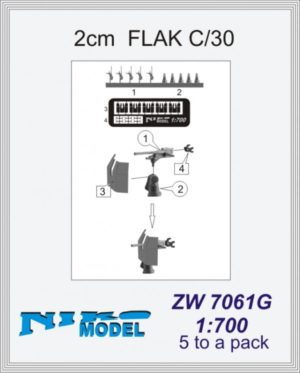 Niko Model 1:700 2cm Flak C/30 (5 to a pack)
