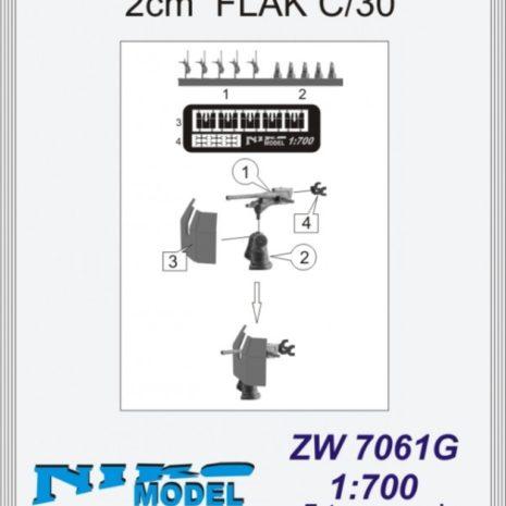 Niko Model 1:700 2cm Flak C/30 (5 to a pack)