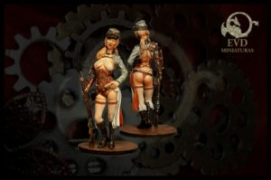 El Viejo Dragon 75mm Steampunk Standing Dixie Belle