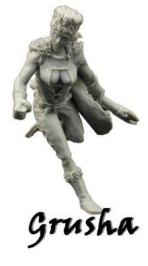 Another World Miniatures Grusha Female Russian Warrior