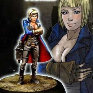 Another World Miniatures Resin Anjelika Steampunk Female Commissar