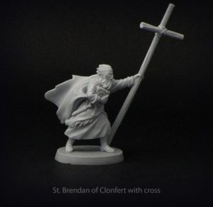 Brother Vinni Miniatures St Brendan Of Clonfert With Cross