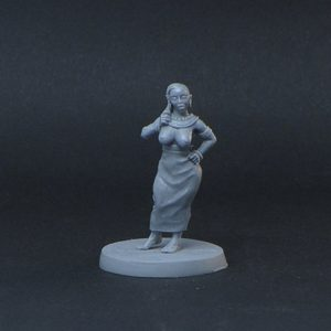 Brother Vinni Miniatures Half Bald Shaved Egyptian Girl
