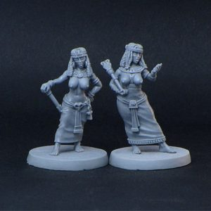 Brother Vinni Miniatures 2 Curvy Semi Naked Noble Egyptian Girls