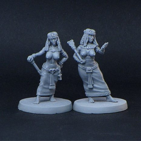 Brother Vinni Miniatures 2 Curvy Semi Naked Noble Egyptian Girls