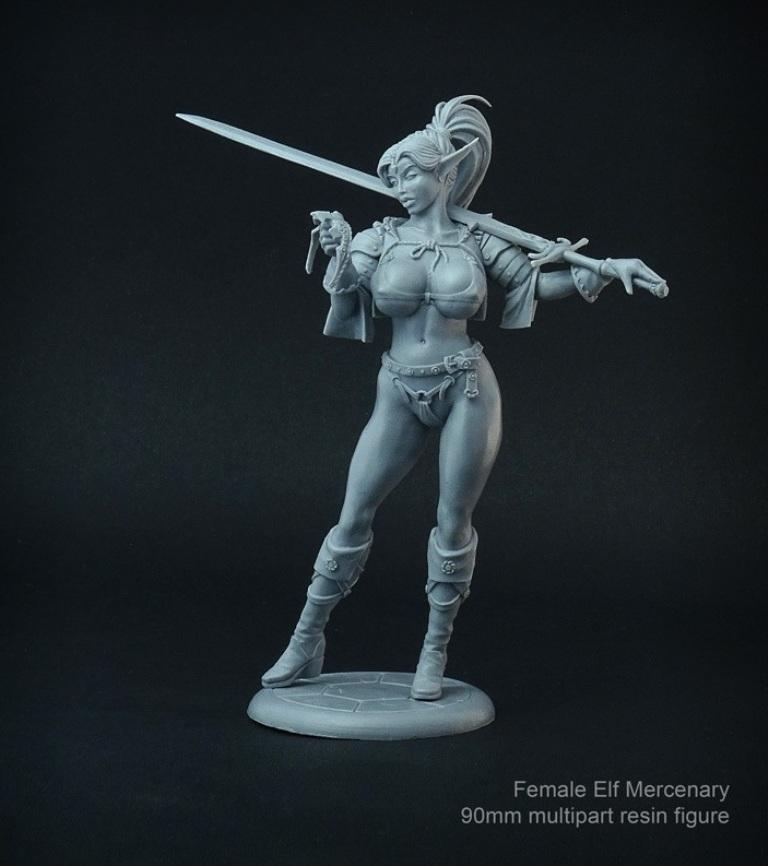 Brother Vinni 90mm Female Elf Mercenary