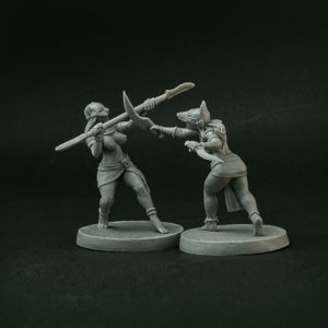 Brother Vinni Miniatures Topless Female Egyptian Fighters x 2 Miniatures