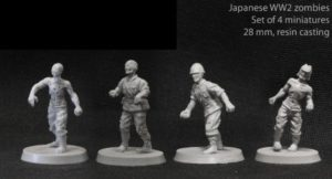 Brother Vinni WWII Japanese Zombies x 4 Miniatures