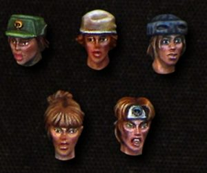 Brother Vinni Female Jungle Heads Set Of 5 Heads