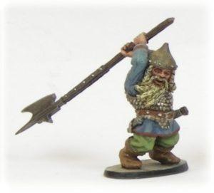 Denizen Miniatures Dwarf Wearing Scale Armour With Halberd