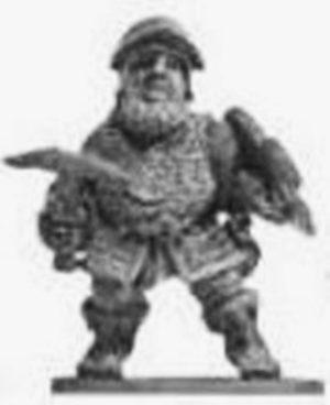 Denizen Miniatures Dwarf Wearing Chain Mail With CrossBow