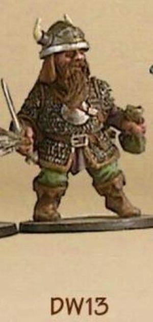Denizen Miniatures Dwarf Thief Wearing Chain Mail