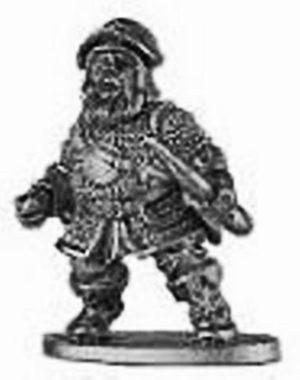 Denizen Miniatures Dwarf Archer Wearing Chain Mail