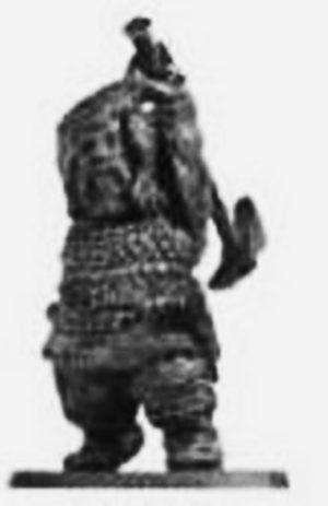 Denizen Miniatures Dwarf Wearing Scale Armour With Hammer