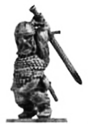 Denizen Miniatures Dwarf Wearing Scale Armour With Sword