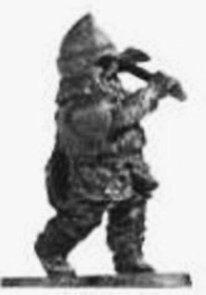 Denizen Miniatures Dwarf Wearing Leather Armour With Hammer