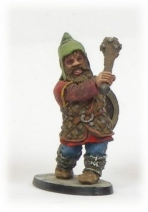 Denizen Miniatures Dwarf Wearing Leather Armour With Club
