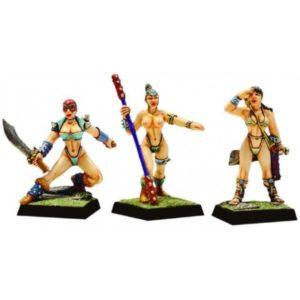 Fenryll Amazons x 3 Figures