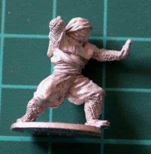 Denizen Miniatures 25mm Ninja drawing Sword
