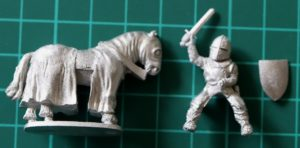 Denizen Miniatures 25mm Mounted Paladin with Sword