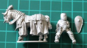 Denizen Miniatures 25mm Mounted Cleric with Flail
