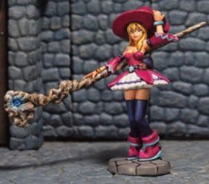 Aurora Model 1/48 Witch Girl With Magic Staff