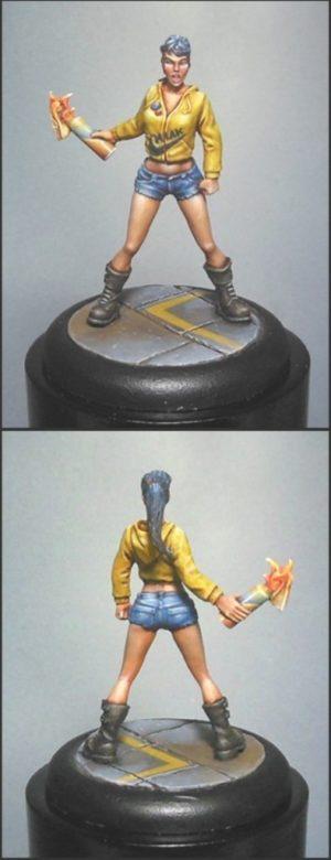 Golem Miniatures Jess The Zombie Hunter