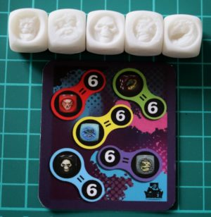 Golem Miniatures Monster Dice Unpainted Set N°2 (5 dice)