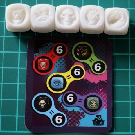 Golem Miniatures Monster Dice Unpainted Set N°2 (5 dice)