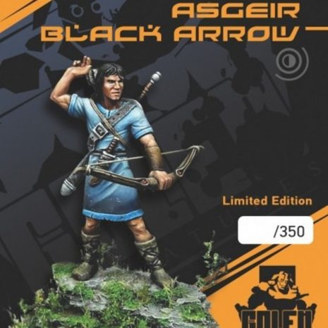 Golem Miniatures Medieval Asgeir Black Arrow (Limited Edition of 350 Copies)