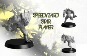 Txarli Miniatures Speedyzard Star Player