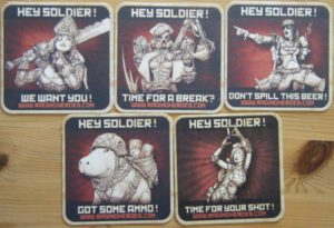 Raging Heroes Coasters Drink Mats 1st Edition Set of 5