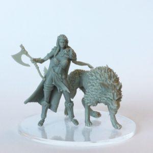 Sygill Forge Viking Female Runir with Wolf