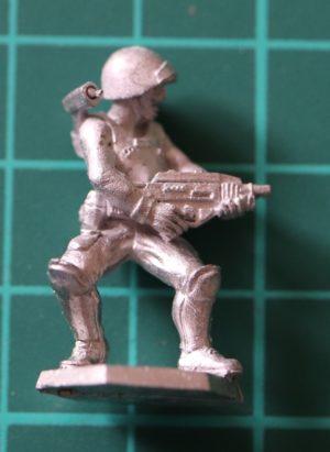 Denizen Miniatures 25mm Trooper Firing ACR (Adaptive Combat Rifle)
