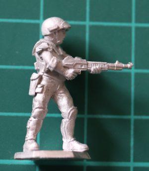 Denizen Miniatures 25mm Trooper Firing Laser Carbine