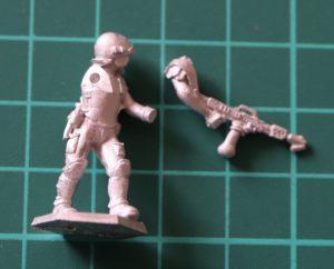 Denizen Miniatures 25mm Trooper with Flamethrower