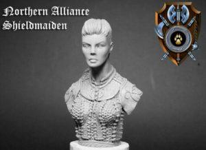 Shieldwolf Miniatures Northern Alliance Shieldmaiden Bust