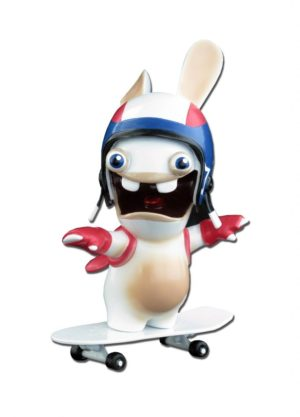 The Lapins Cretins Pull Back Skateboarder Rabbid