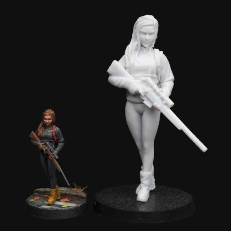 Manufaktura Miniatures Strife Series 54mm Sniper Girl With Rifle