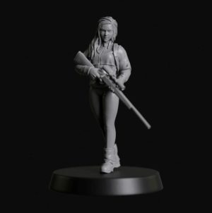 Manufaktura Miniatures Sniper Girl With Rifle