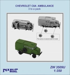 Niko Model 1:350 Chevrolet C8A Ambulance (3 to a pack)