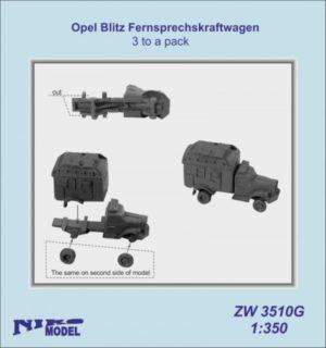 Niko Model 1:350 Opel Blitz Femsprechskraftwagen (3 to a pack)