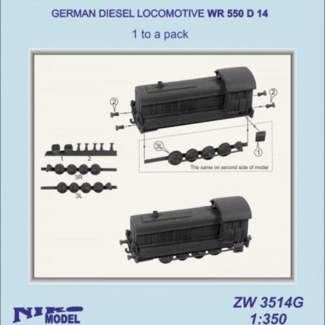 Niko Model 1:350 German Diesel Locomotive WR 550 D 14 (1 to a pack)